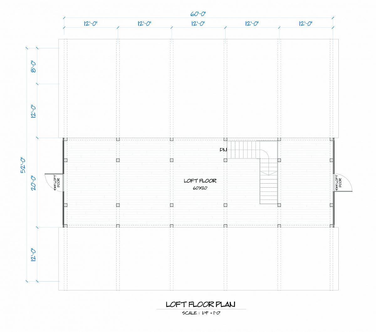 Timberlyne Butternut Barn Loft Floor Plan