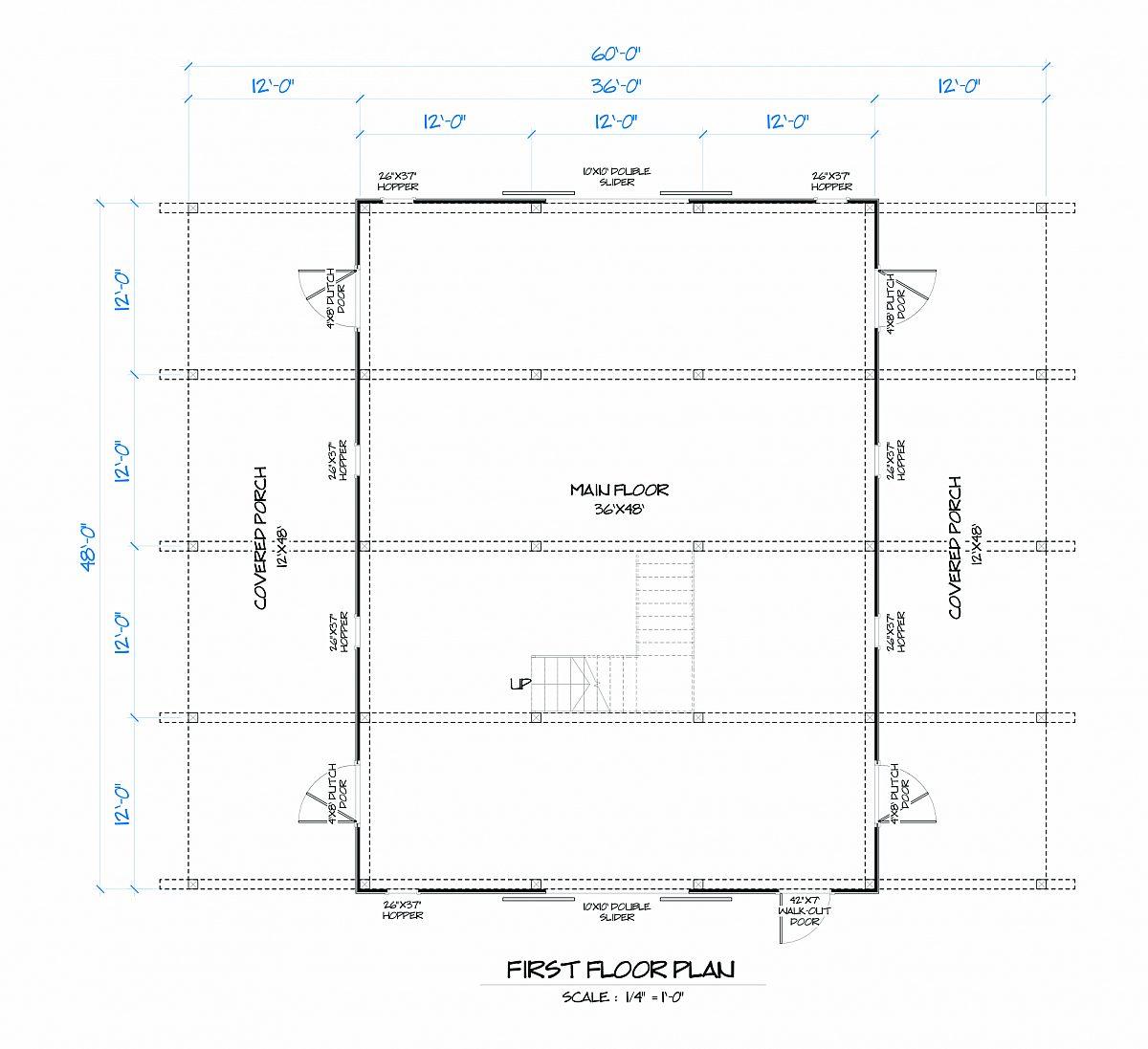 Timberlyne Azalea Barn Main Floor Plan
