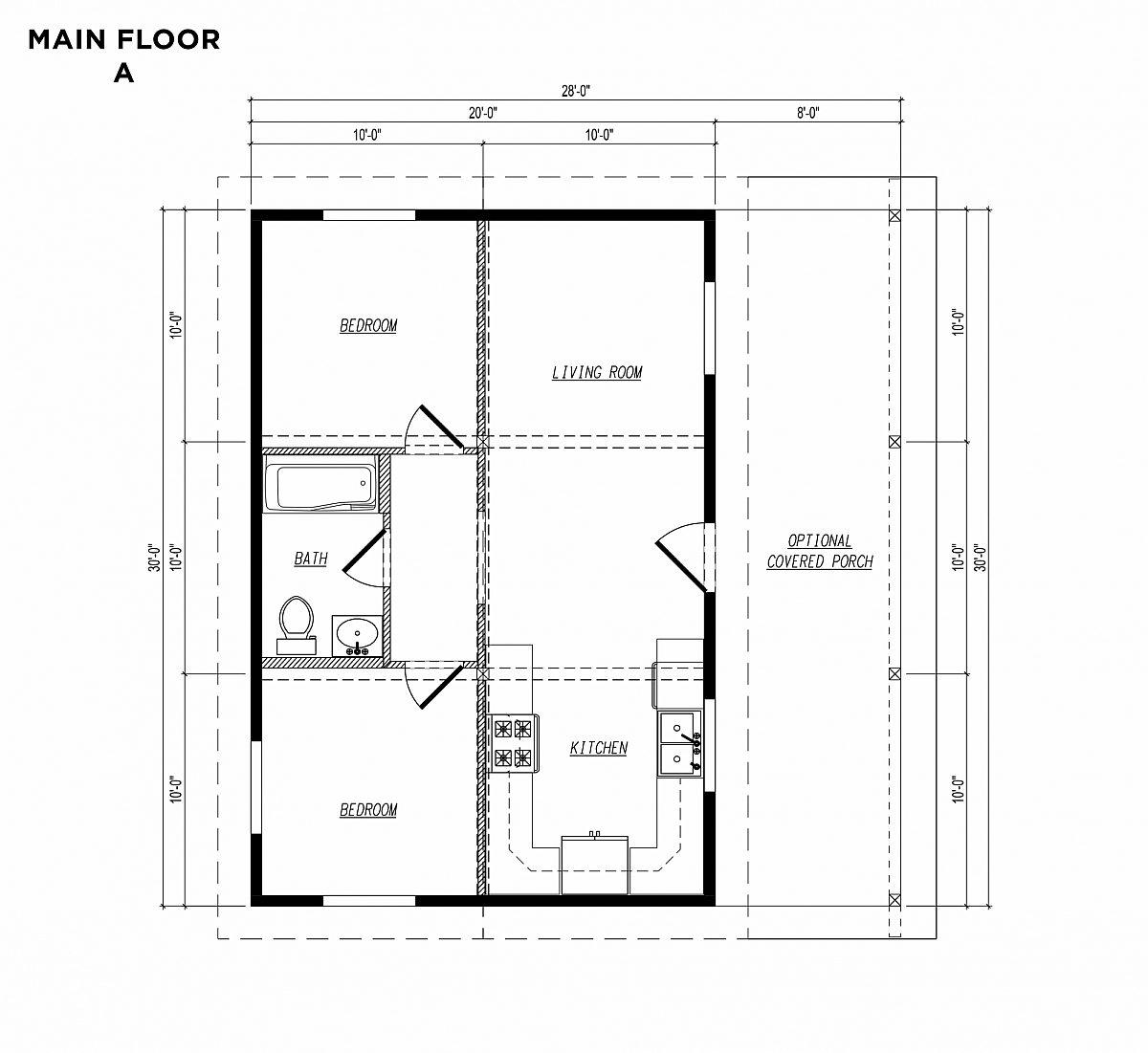 Timberlyne Sparrow Main Floor Plan A copy