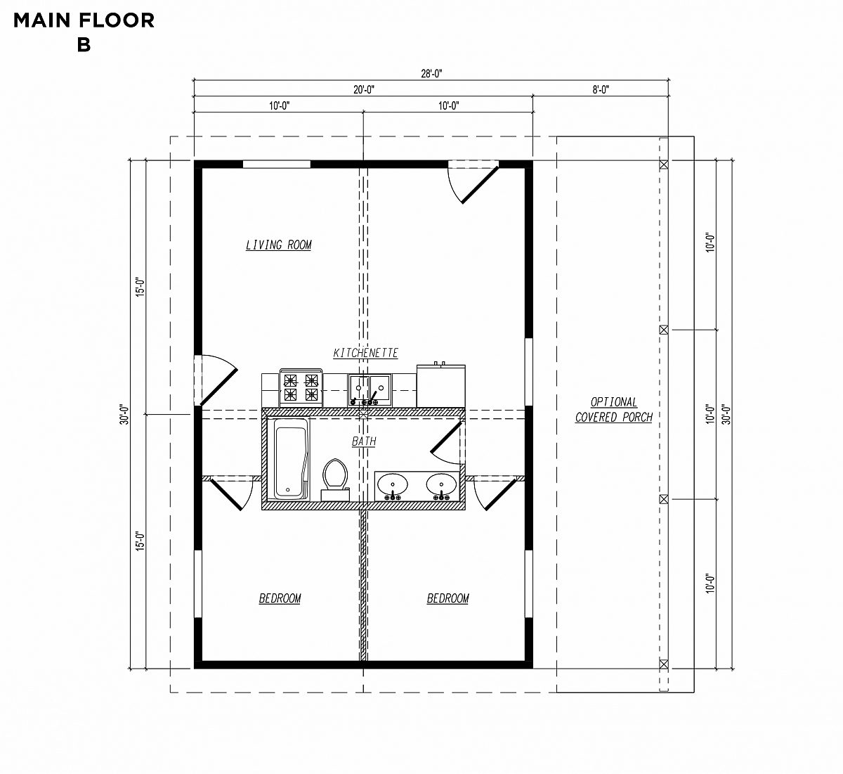 Timberlyne Sparrow Main Floor Plan B copy
