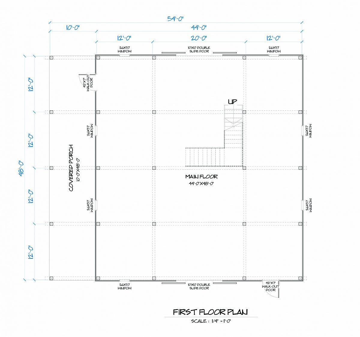 Timberlyne Gunnar Barn Main Floor Plan