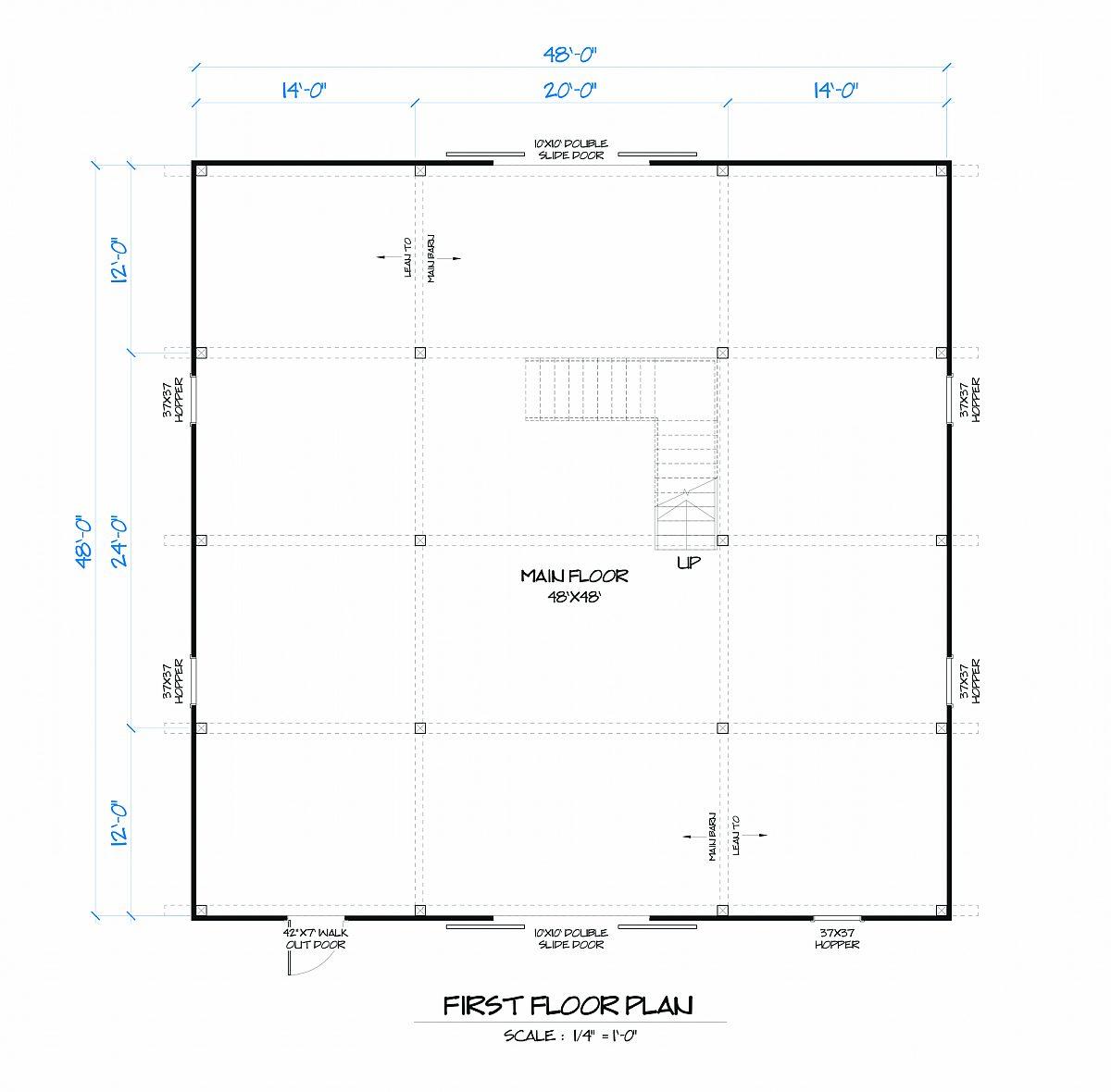 Timberlyne Hawthorn Barn Main Floor Plan