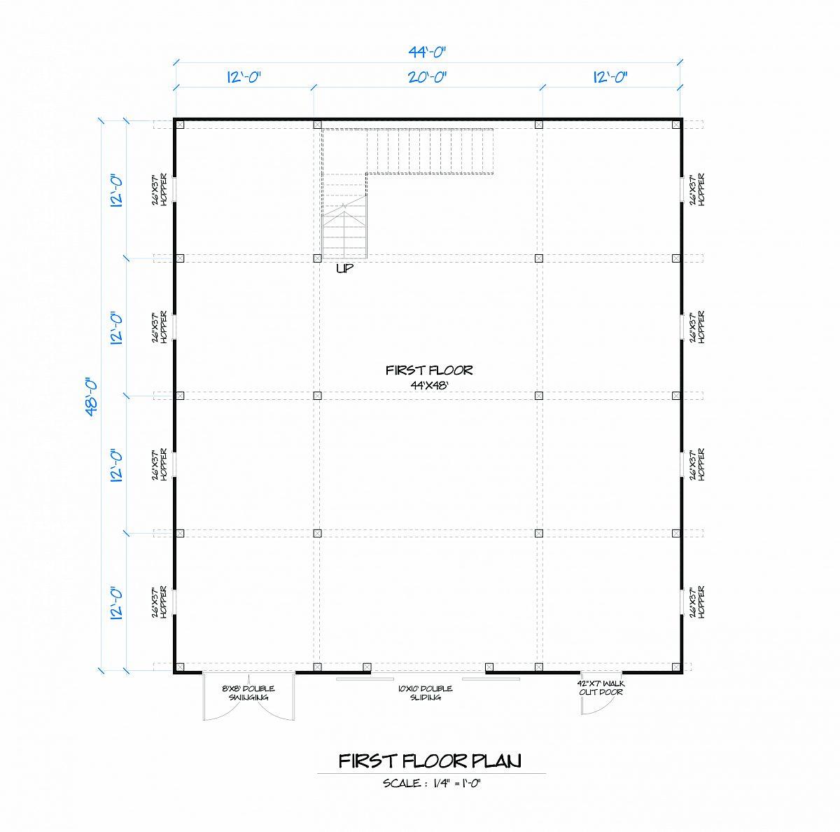 Timberlyne Sunflower Barn Main Floor Plan
