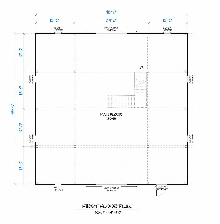 Timberlyne Lotus Barn Main Floor Plan