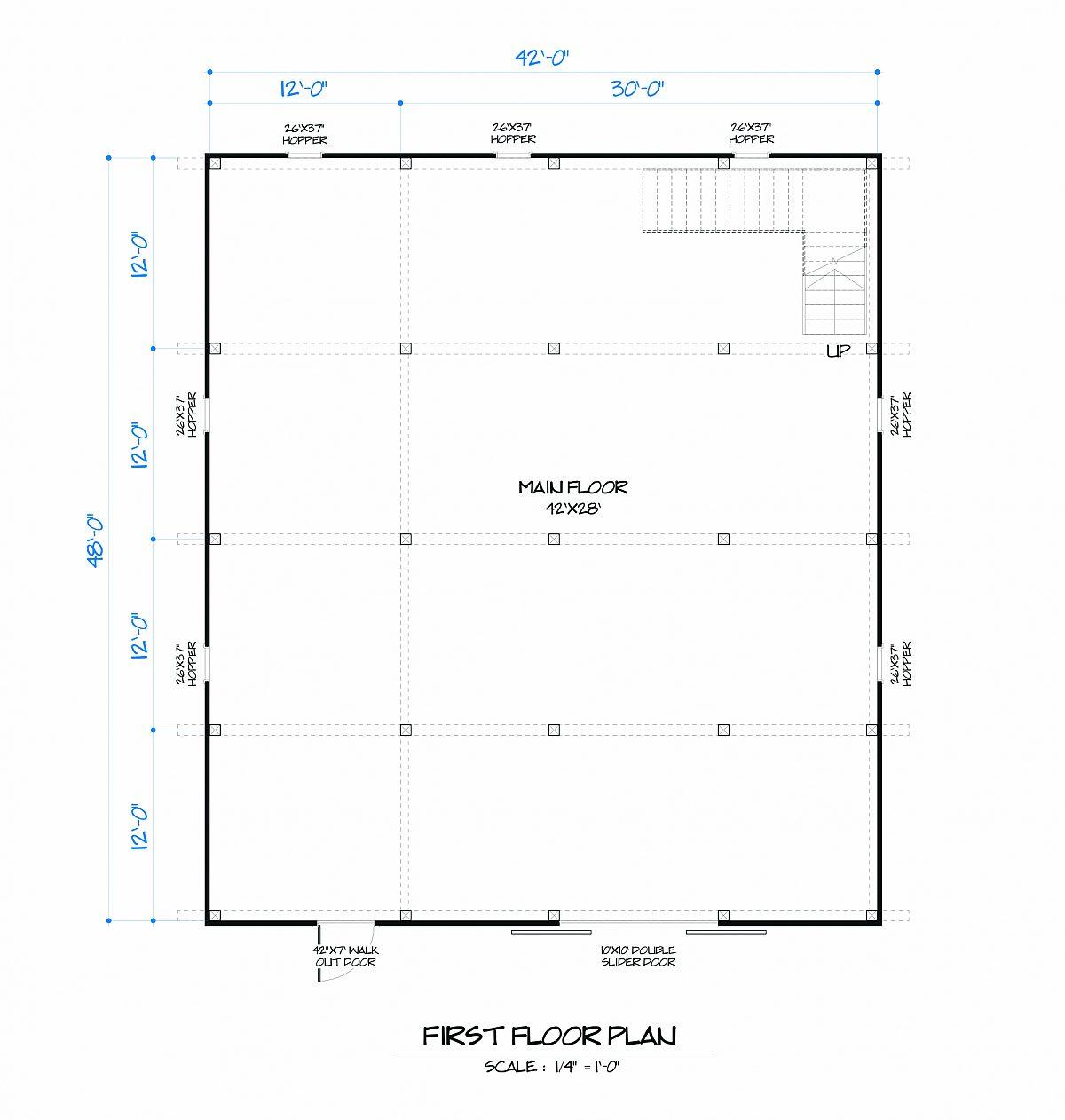 Timberlyne Rose Barn Main Floor Plan