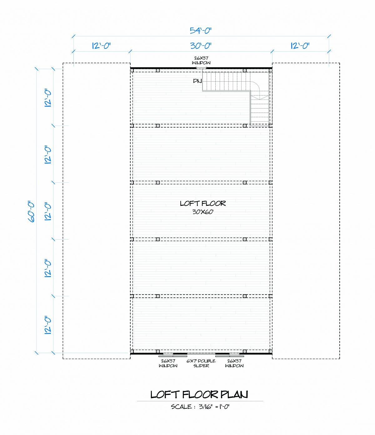 Timberlyne Clover Barn Loft Floor Plan