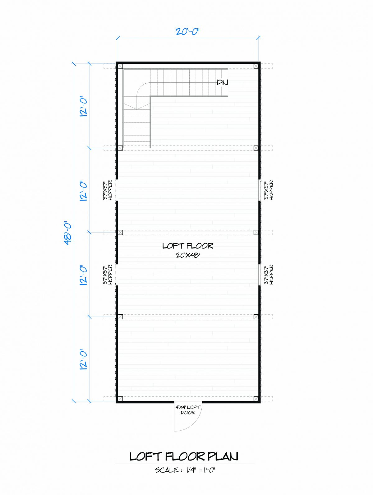 Timberlyne Sunflower Barn Loft Floor Plan