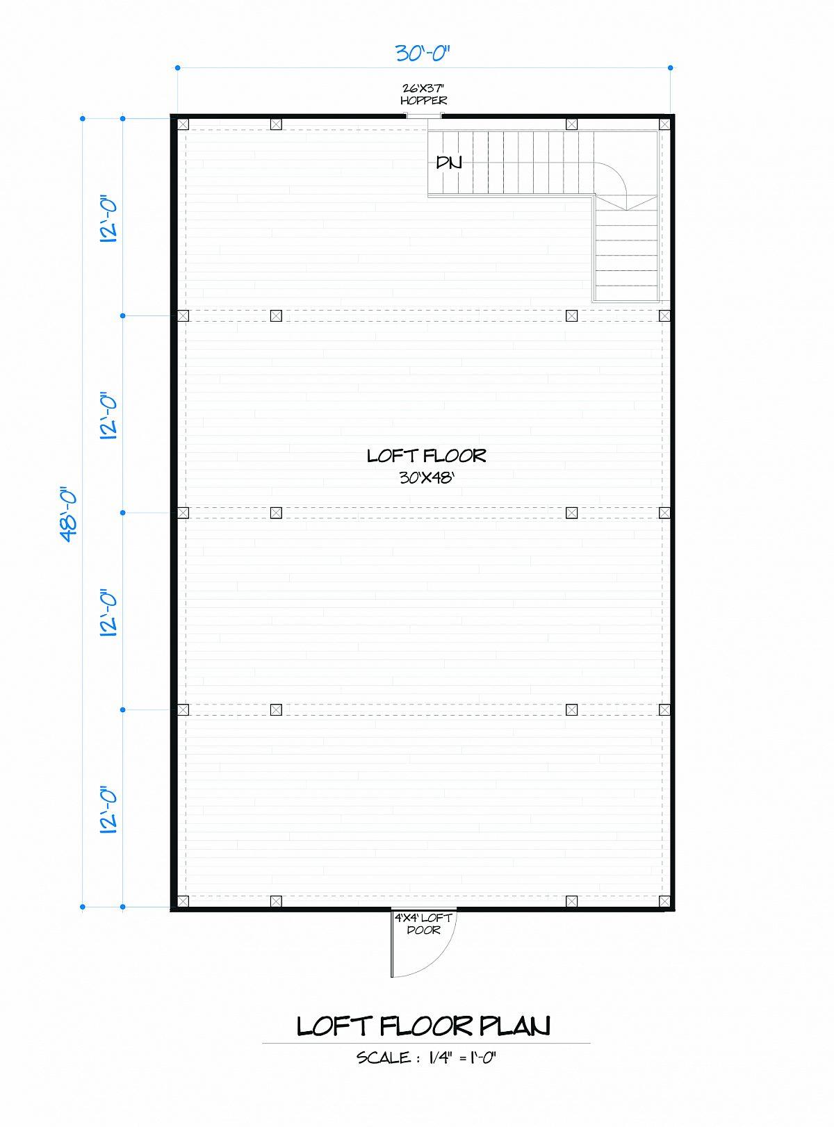 Timberlyne Rose Barn Loft Floor Plan
