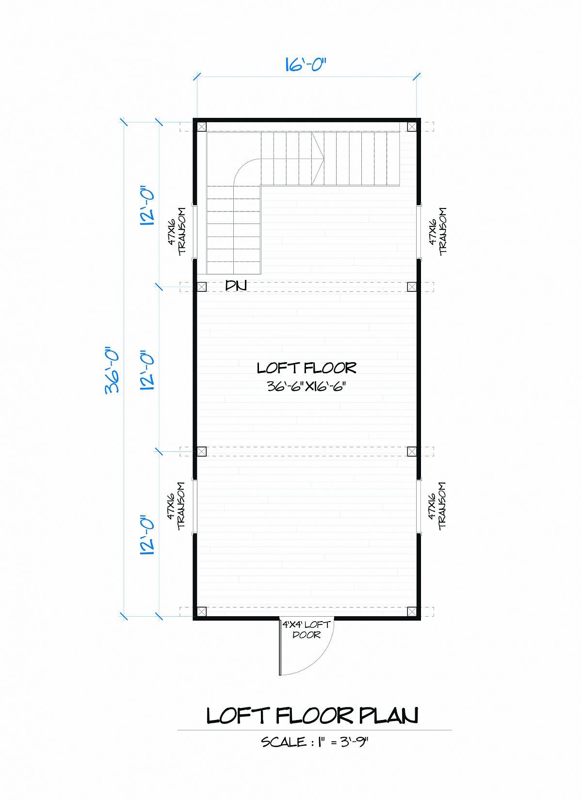 Timberlyne Laurel Barn Loft Floor Plan