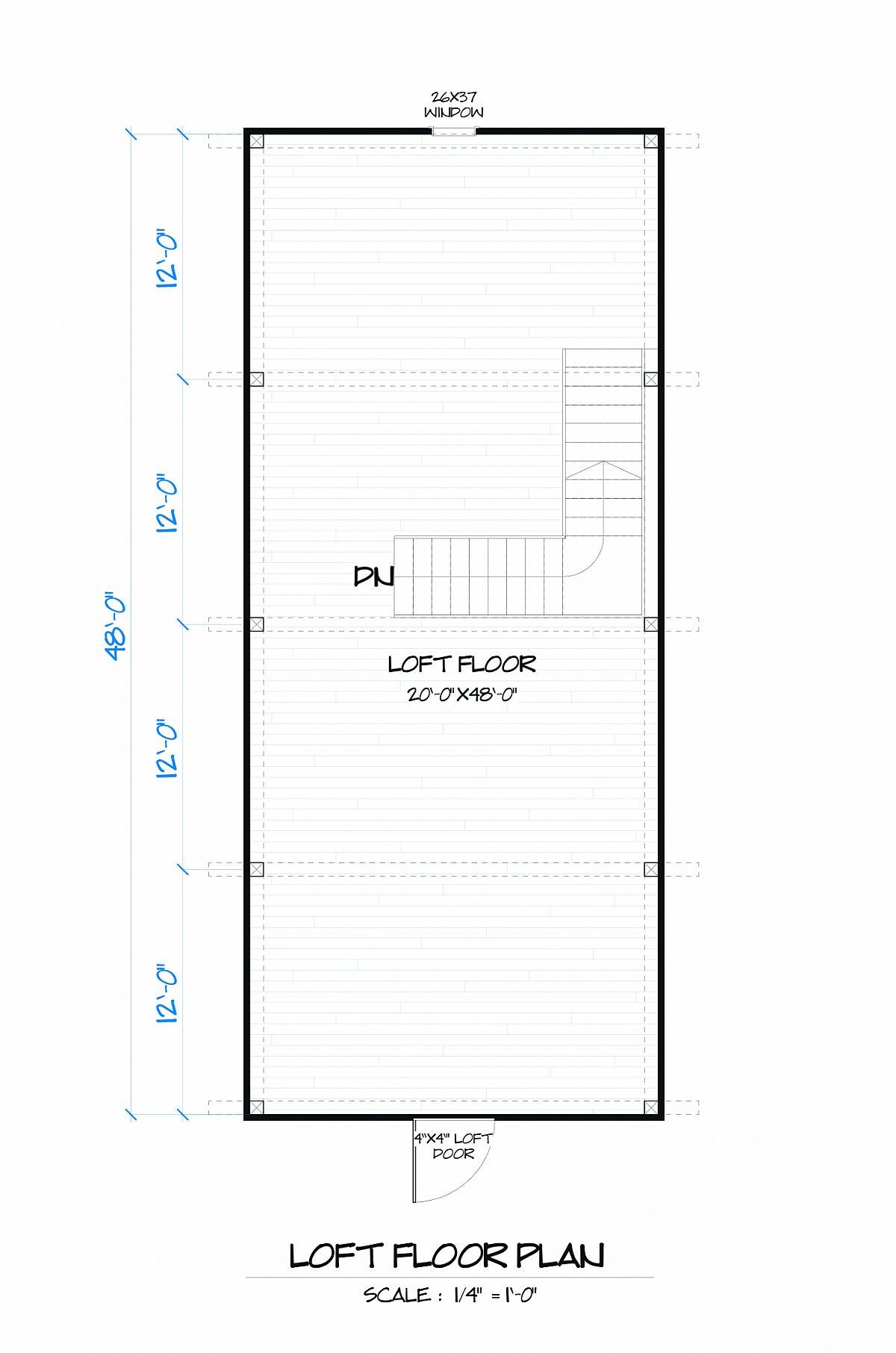 Timberlyne Gunnar Barn Loft Floor Plan