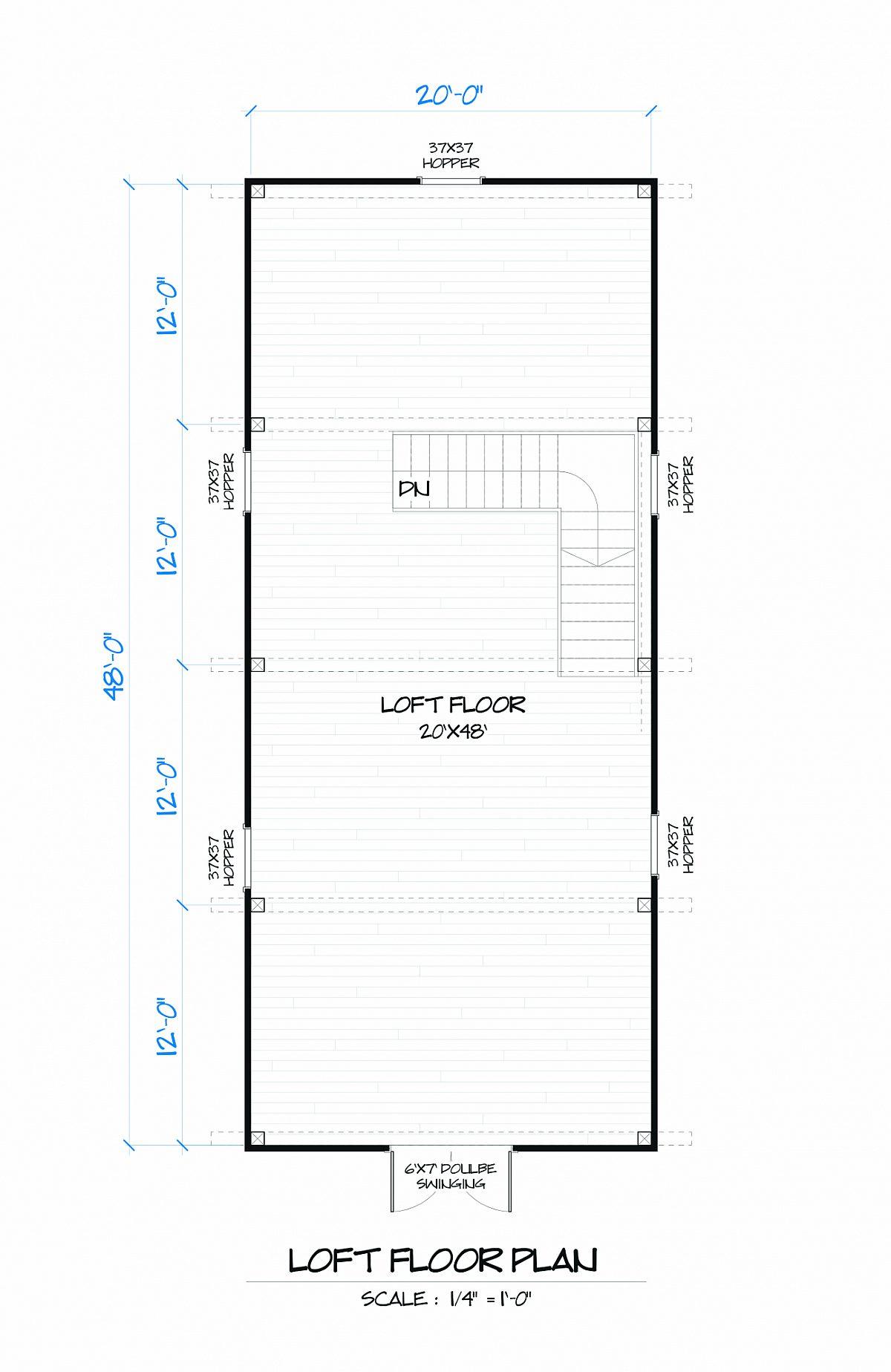 Timberlyne Hawthorn Barn Loft Floor Plan