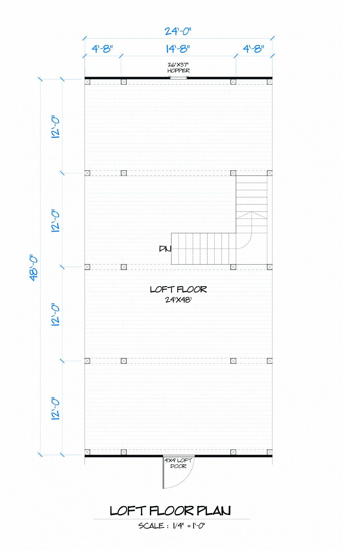 Timberlyne Lotus Barn Loft Floor Plan