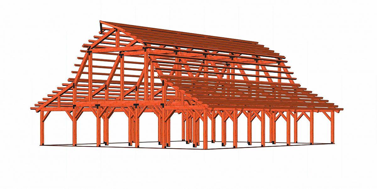 Timberlyne Clover Barn Full Frame Rendering