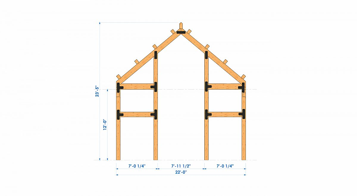 Timberlyne Henry 1550 SF Home Bent 2