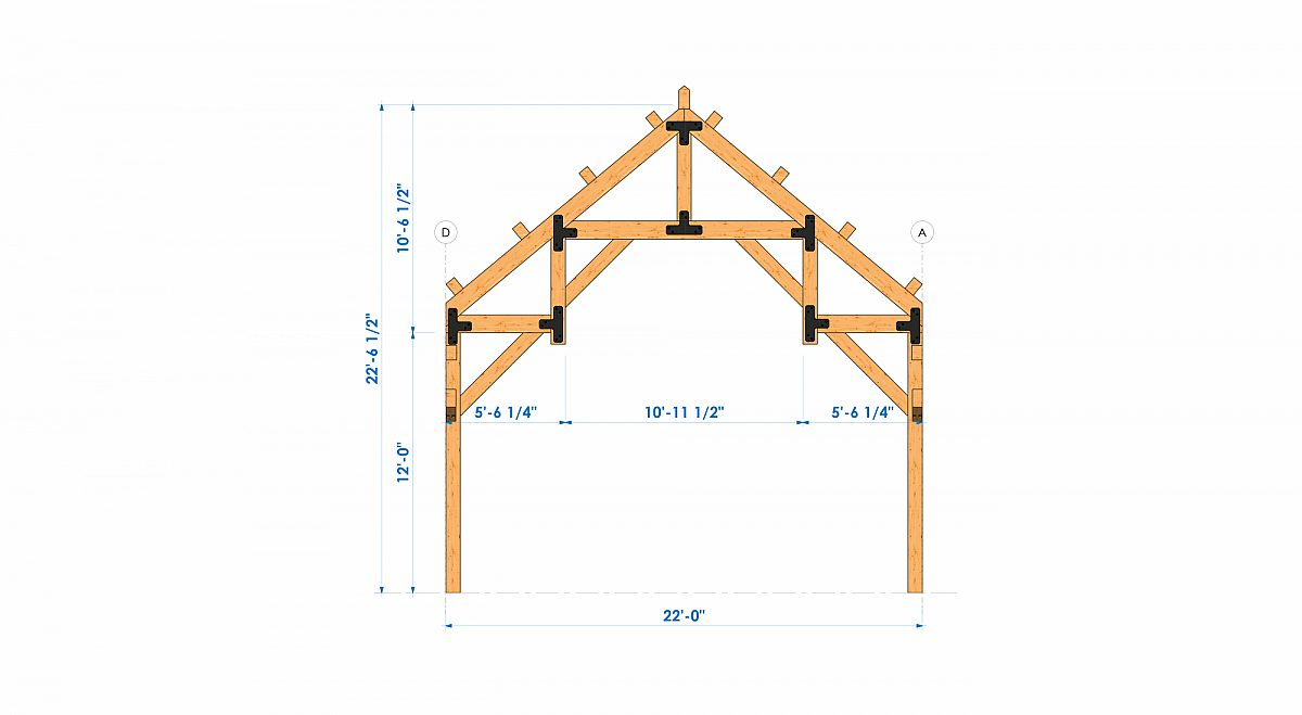 Timberlyne Henry 1550 SF Home Bent 3