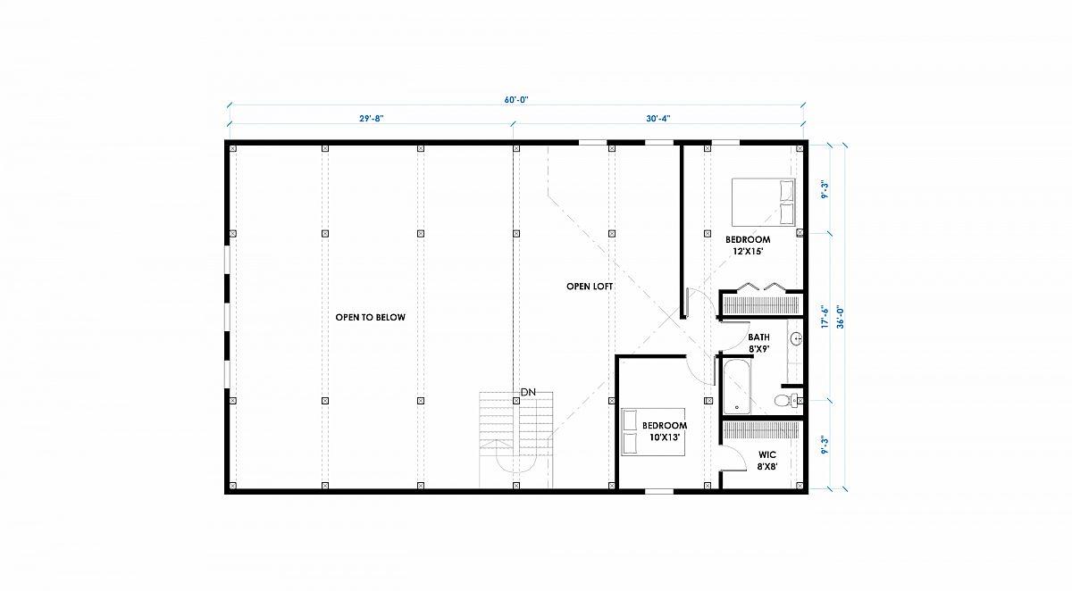 Timberlyne Cinder Cone 36x60 Floor Plan Loft