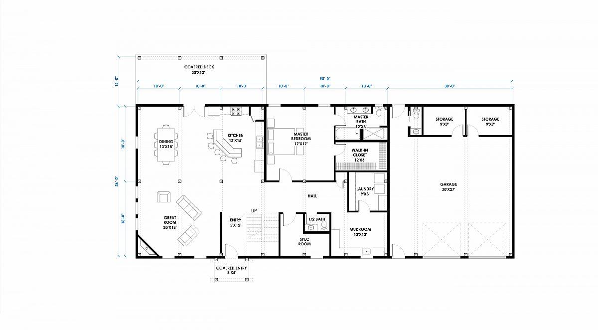 Timberlyne Cinder Cone 36x60 Floor Plan Main