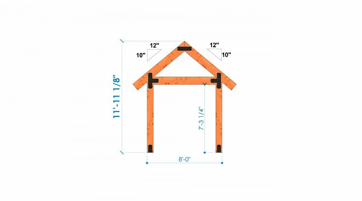 Timberlyne Castner 24x90 Combination Barn Home Bent 6