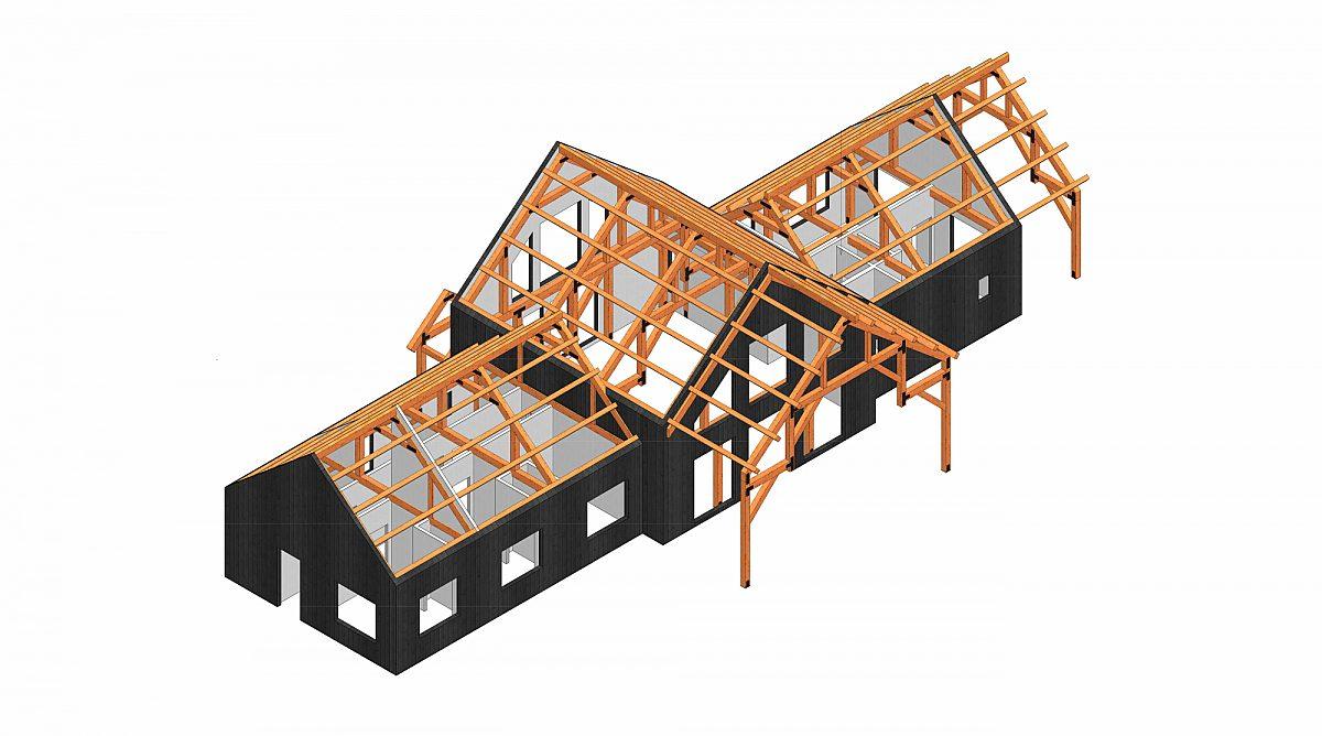 Timberlyne Castner 24x90 Combination Barn Home Cutout