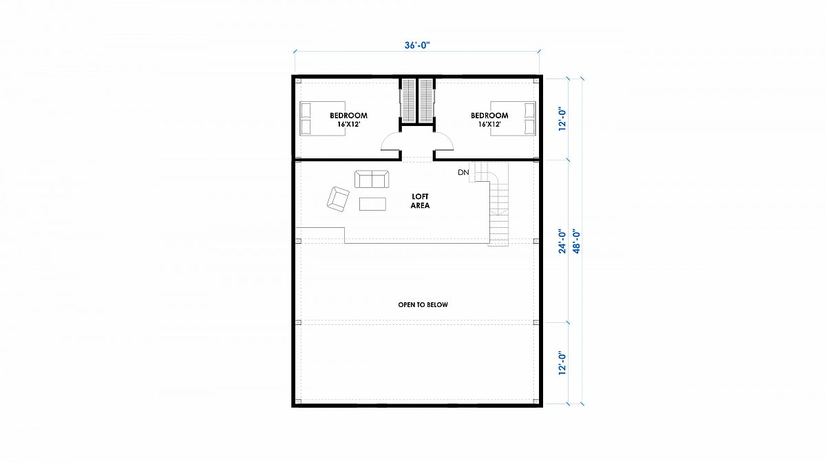 Granite 32x48 2880 Sf Floor Plan Loft