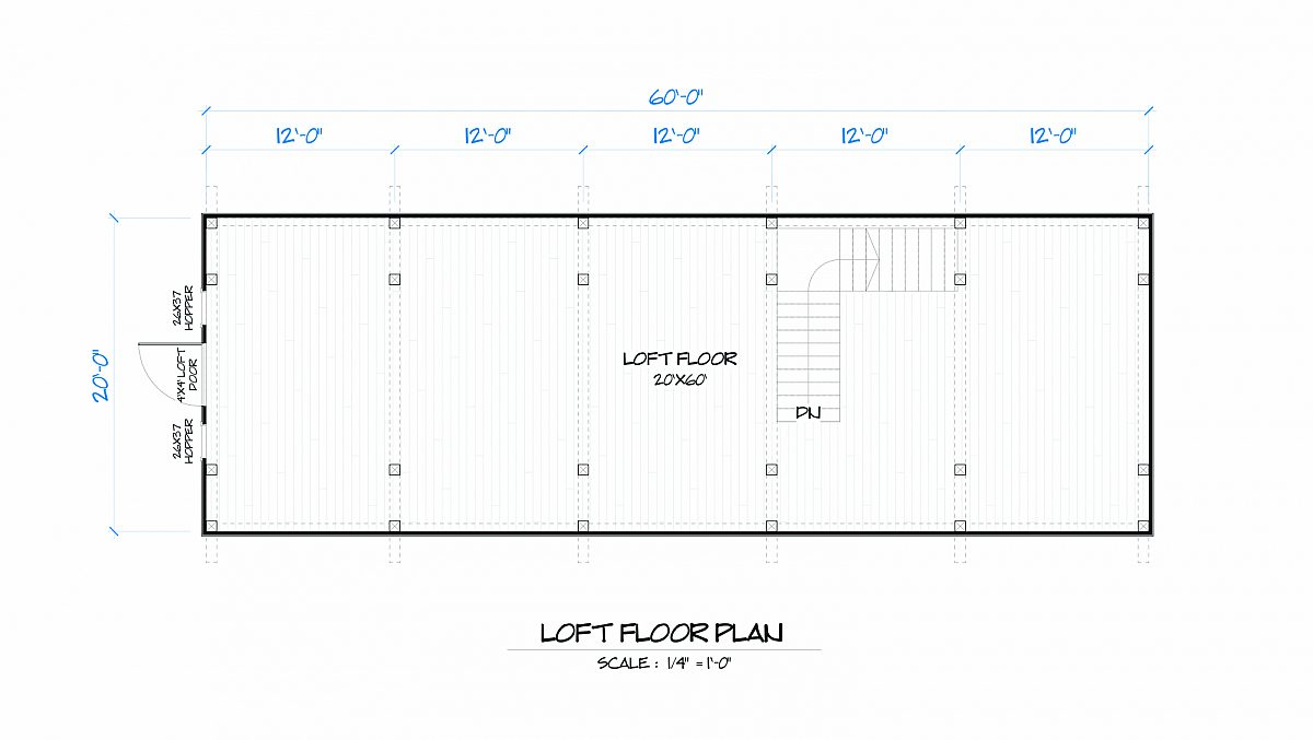 Timberlyne Bluebonnet Barn Loft Floor Plan