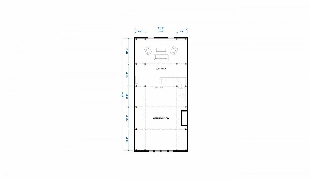 Timberlyne Greylock 56 x52 2853 SF Great Plains Gambrel Floor Plan Loft