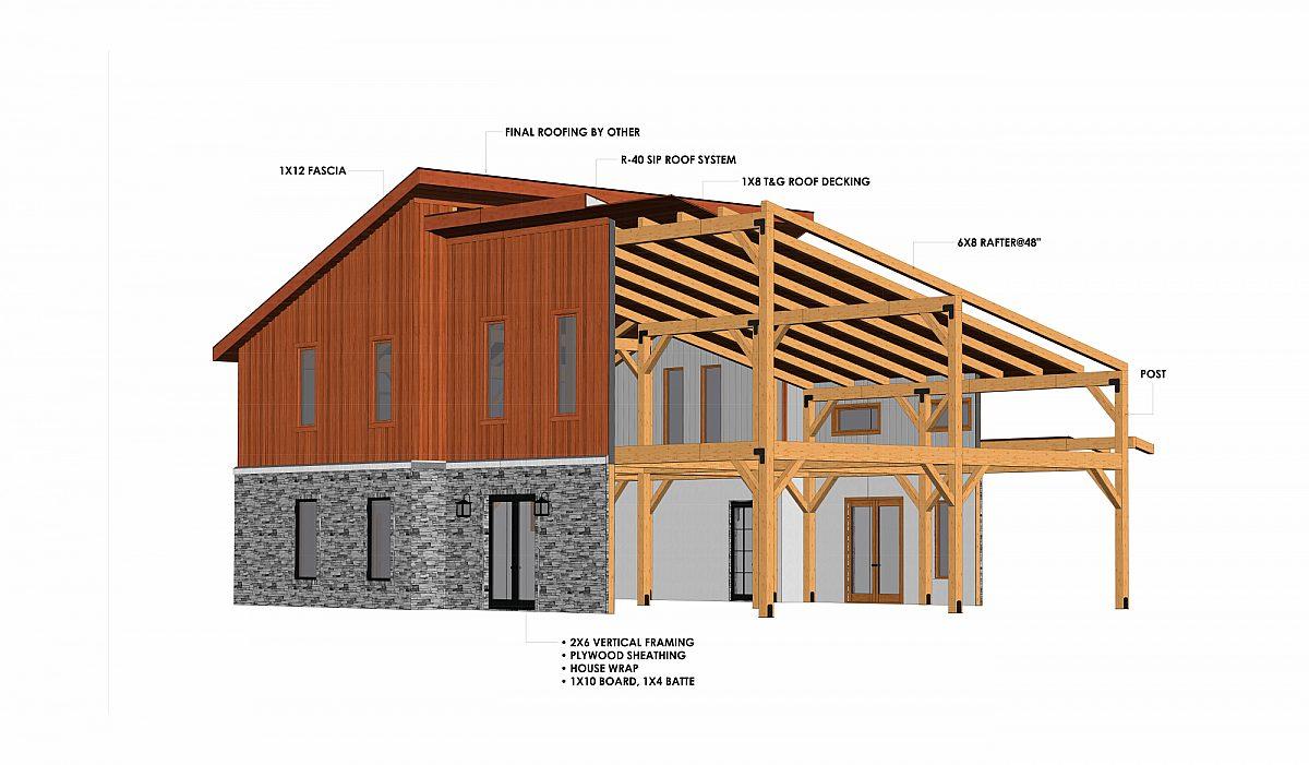 Timberlyne Olympus 3427 SF Modern Home Cutout