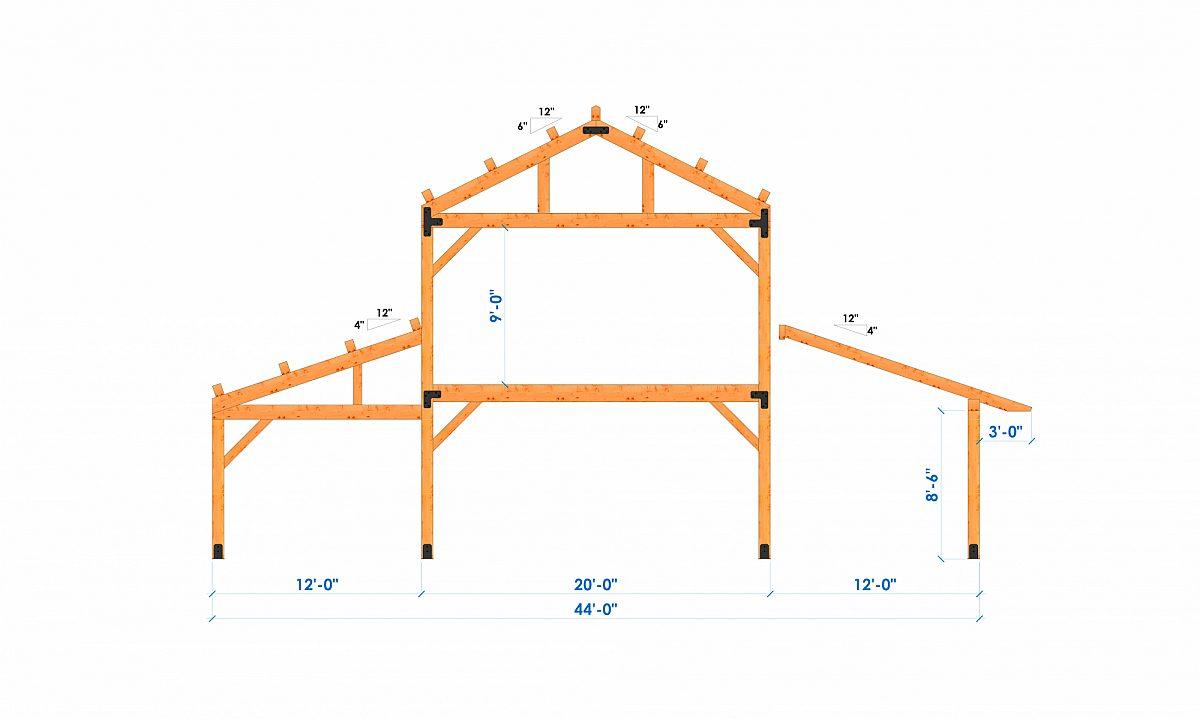Timberlyne Calabasas 36 x44 1920 SF Combination Bent 1