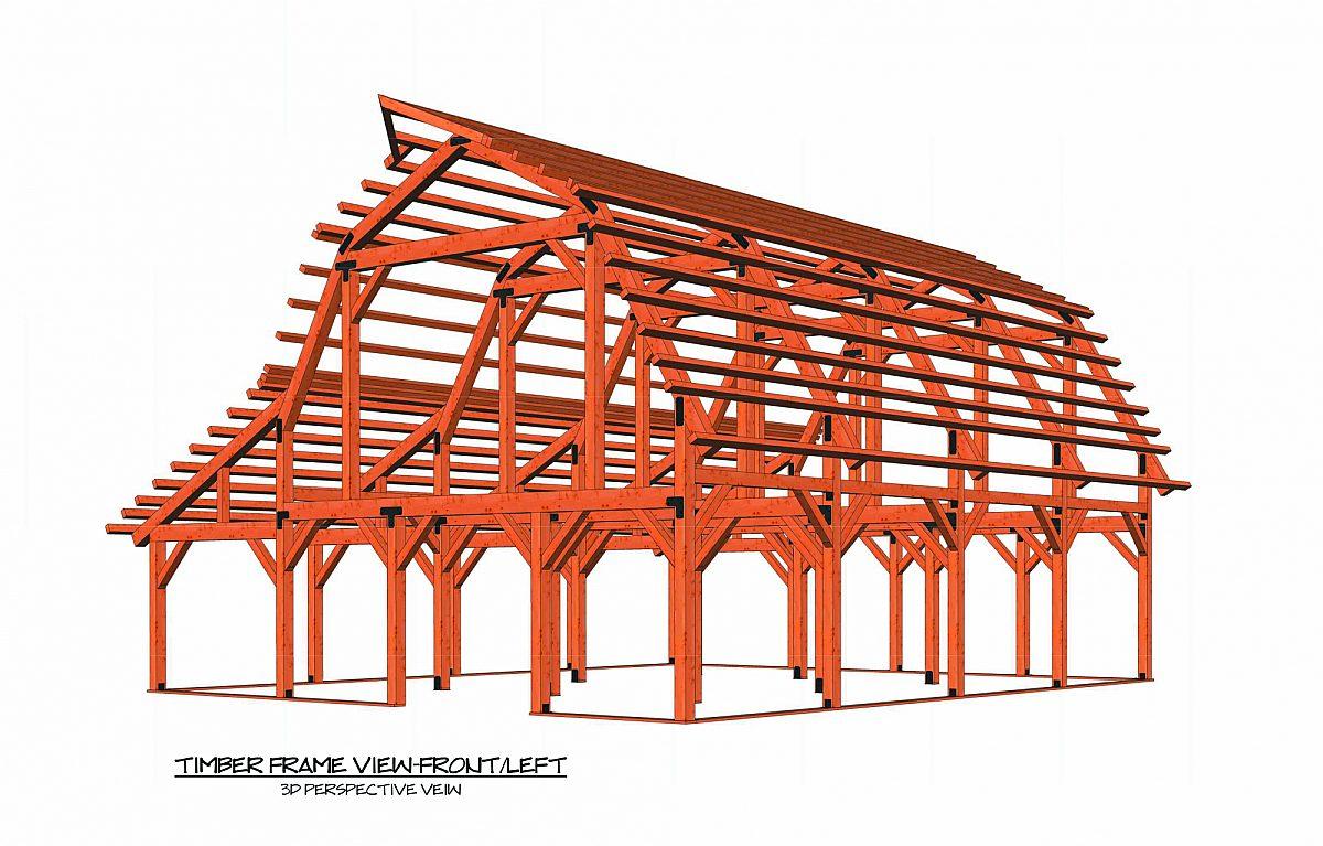 Timberlyne Rose Barn Full Frame Rendering