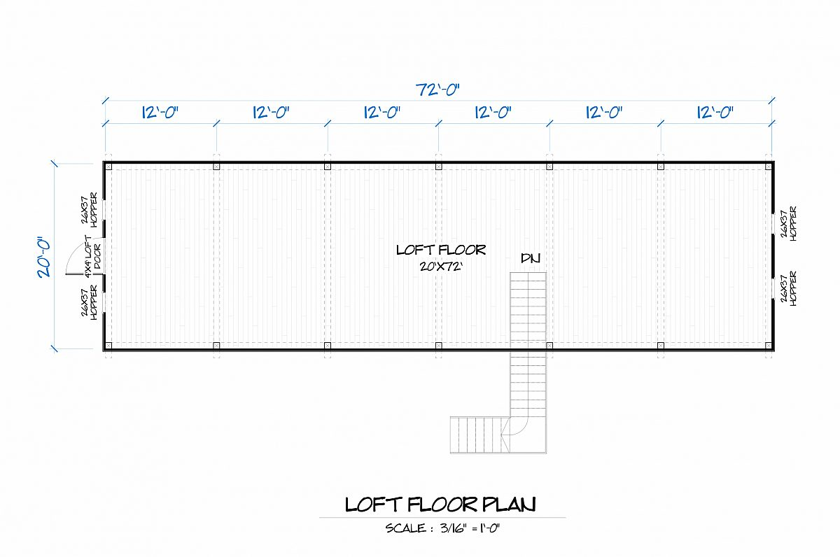 Timberlyne Goldenrod Barn Loft Floor Plan