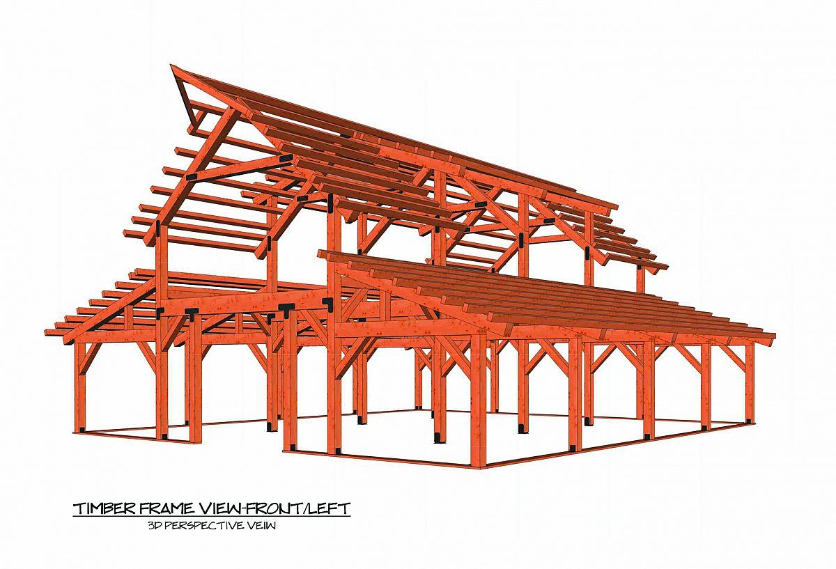 Timberlyne Sunflower Barn Full Frame Rendering
