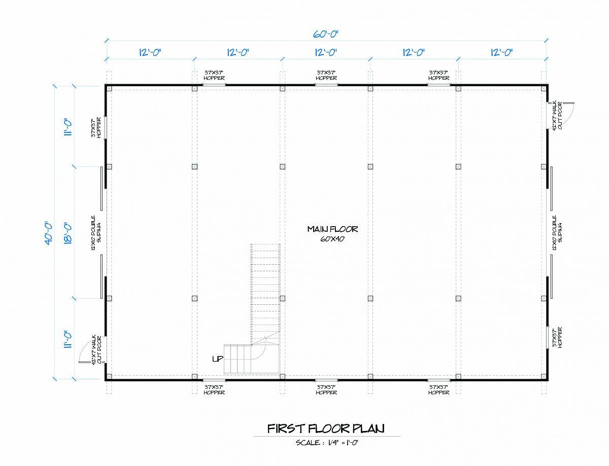 Timberlyne Sage Barn Main Floor Plan
