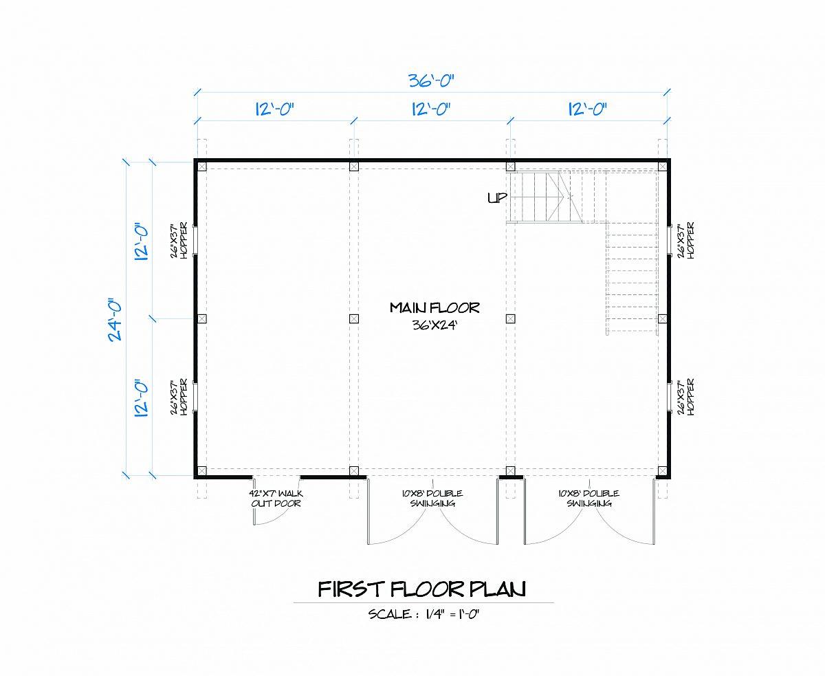 Timberlyne Magnolia Barn Main Floor Plan