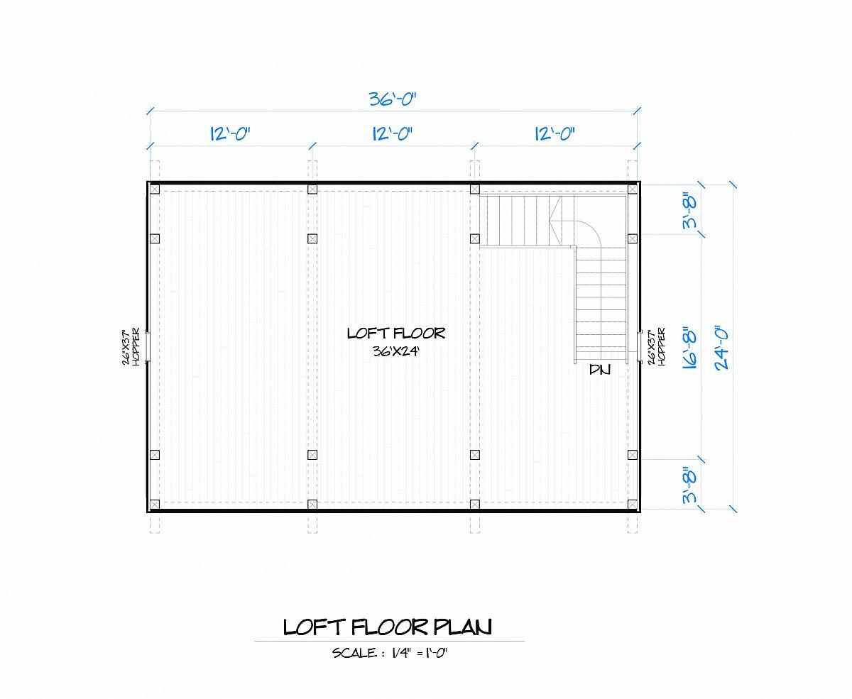 Timberlyne Magnolia Barn Loft Floor Plan