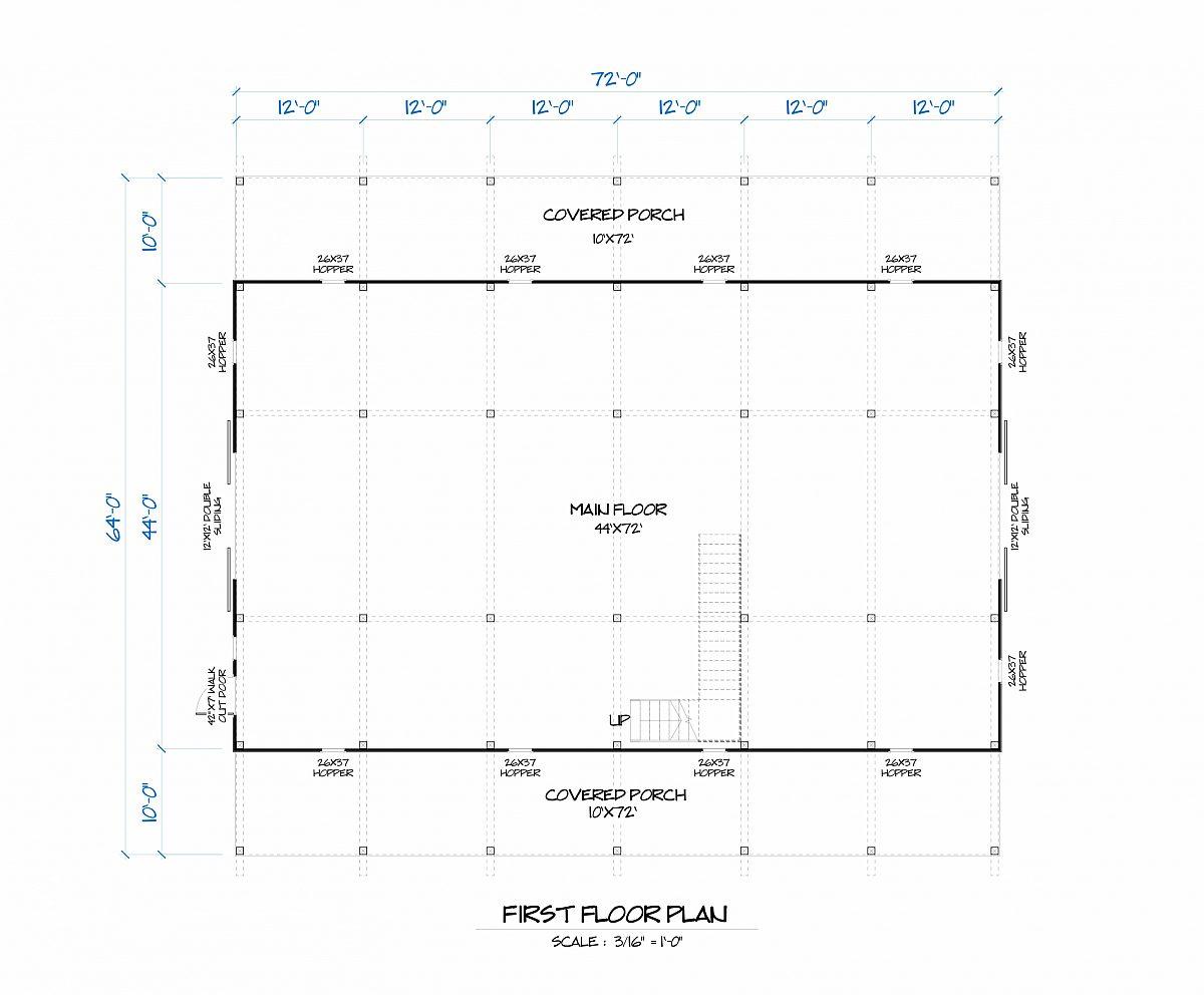 Timberlyne Goldenrod Barn Main Floor Plan