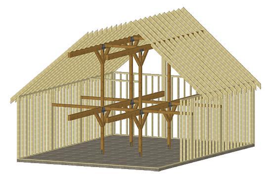 Cabin series pre designed interior 30x40 rendering example