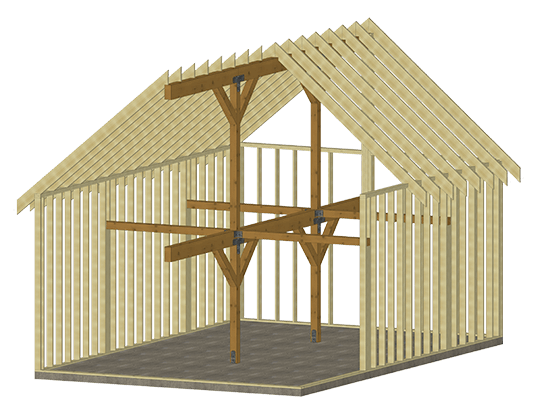 Cabin series pre designed interior 20x30 rendering example