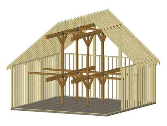 Cabin series pre designed interior 30x30 rendering example