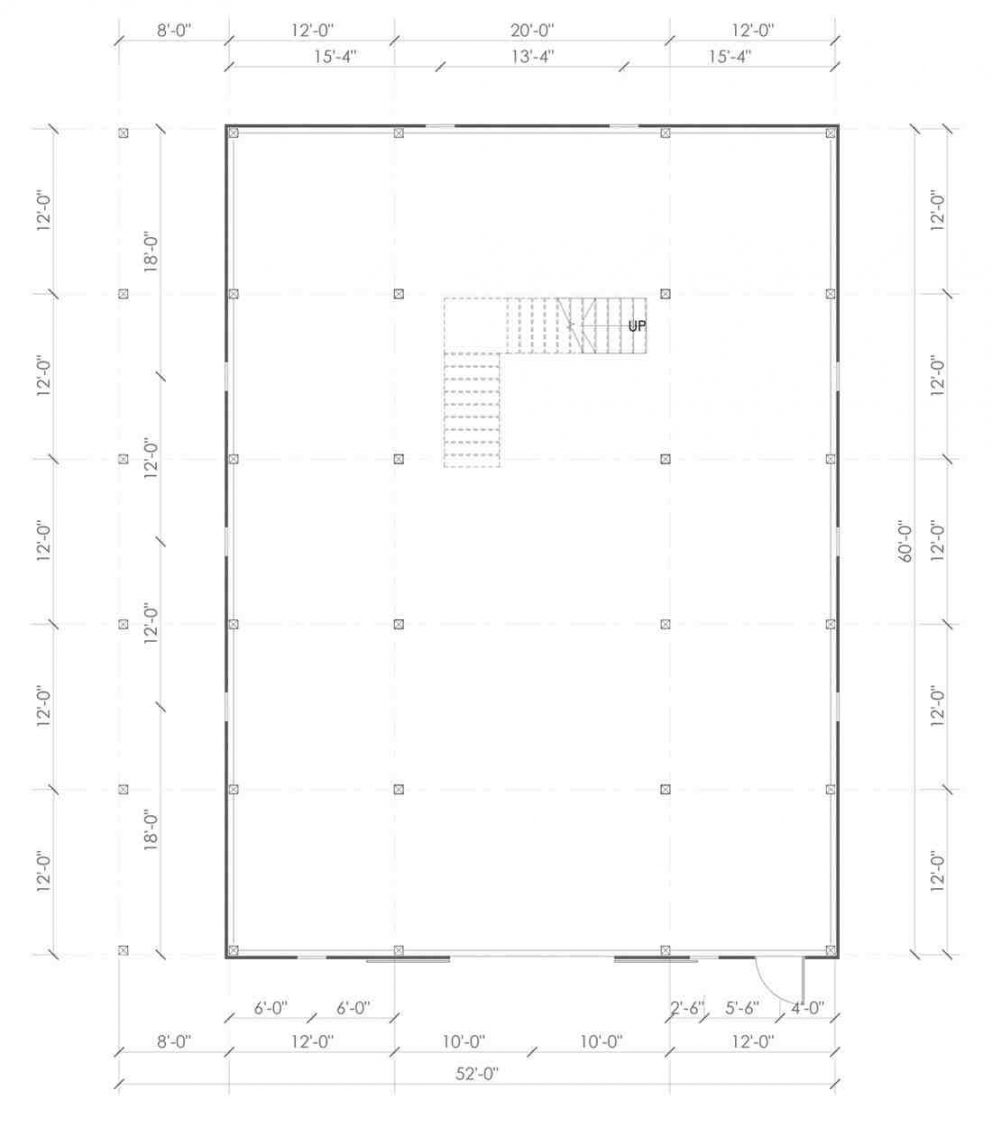 Barn package timber frame post layout 44x60 ponderosa country barn