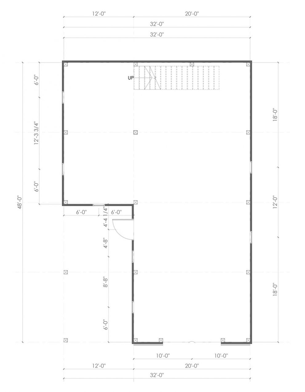 Barn package timber frame post layout 32x48 ponderosa country barn