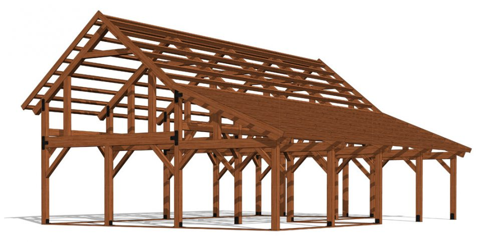 Barn package timber frame frame design2 32x48 ponderosa country barn