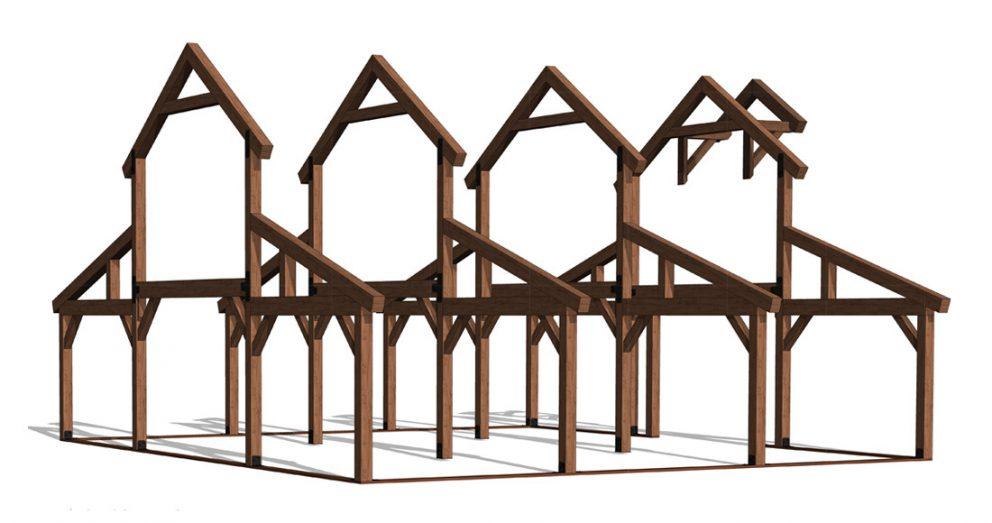Barn package timber frame frame2 40x36 great plains western horse barn