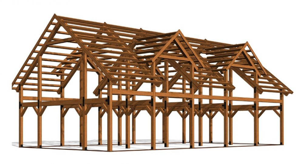 Barn package timber frame 30x60 ponderosa country barn