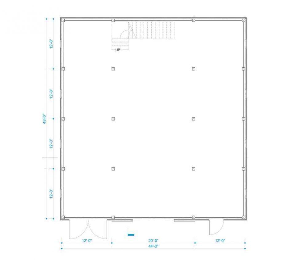 Barn package floor plan design 44x48 great plains western horse barn